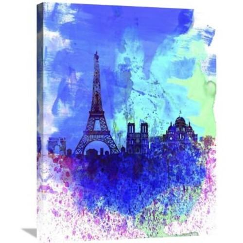 Naxart 'Paris Watercolor Skyline' Graphic Art on Wrapped Canvas; 32'' H x 24'' W x 1.5'' D