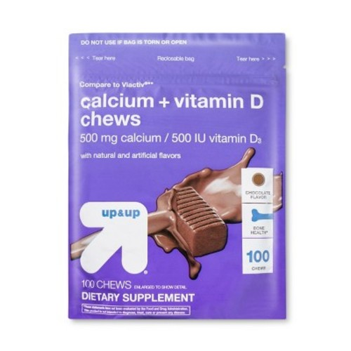 Calcium Chocolate Soft Chews 100 count - up & up