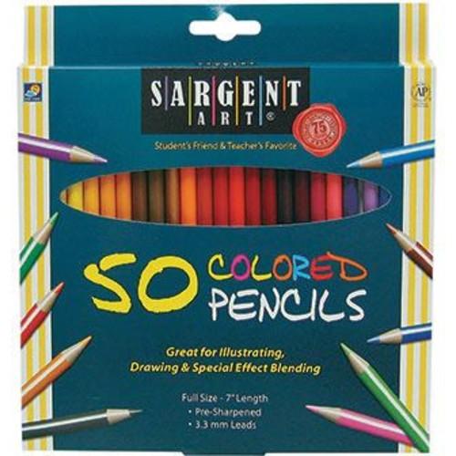 Sargent Art Colored Pencils, 50/Pack (SAR227251)