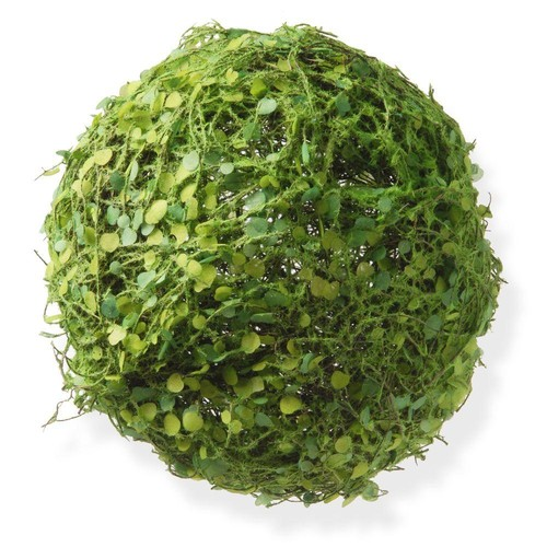 National Tree Company 8 in. Ball with Moss and Mini Leaves