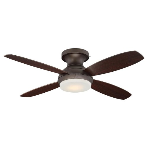 GE Pierson 52 in. LED Indoor Bronze Ceiling Fan with SkyPlug Technology