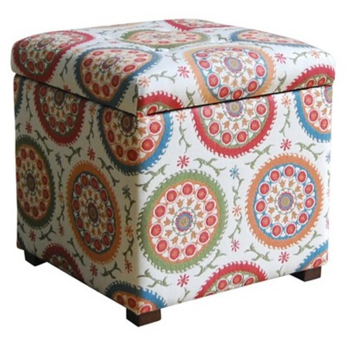 Storage Ottoman Medallion Print - HomePop
