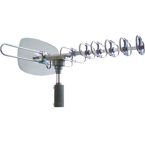 Naxa 97086454M High Powered Amplified Motorized Outdoor Antenna For ATSC and HDTV