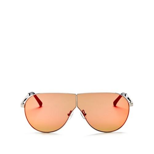 3.1 PHILLIP LIM Mirrored Shield Aviator Sunglasses, 70Mm