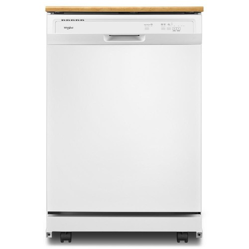 Whirlpool Heavy-Duty Portable Dishwasher in White with 12 Place Setting Capacity