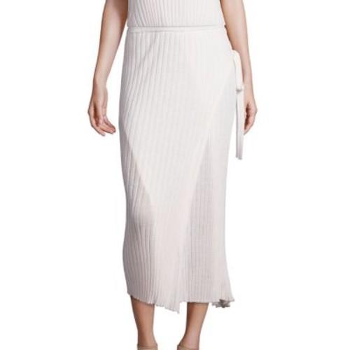 HELMUT LANG Side-Tie Merino Wool Wrap Skirt