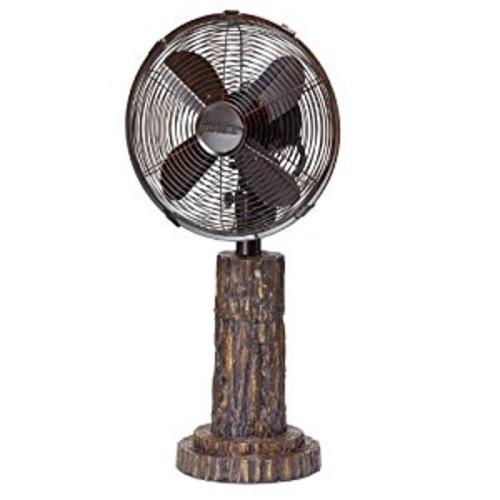 DecoBREEZE Oscillating Table Fan 3-Speed Air Circulator Fan, 10-Inch, Fir Bark [Fir Bark]