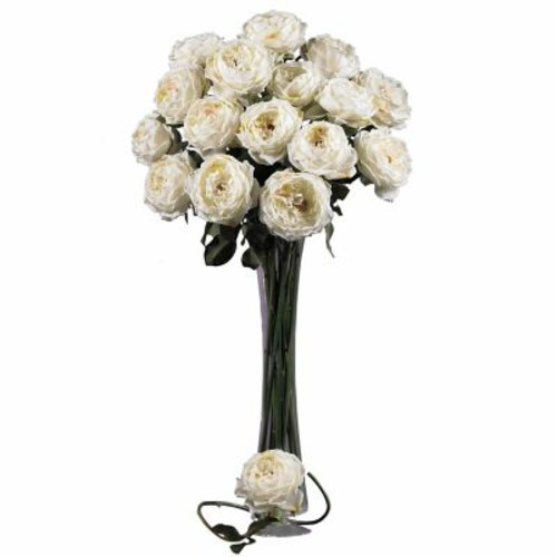 Nearly Natural 31'' Large Rose Stem (Set of 12)