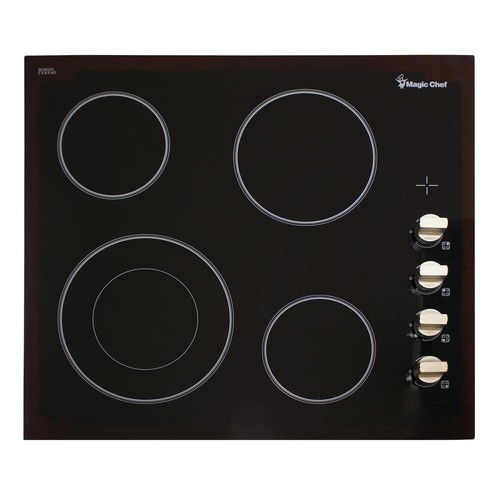 Magic Chef 24 in. Radiant Electric Cooktop in Black with 4 Elements