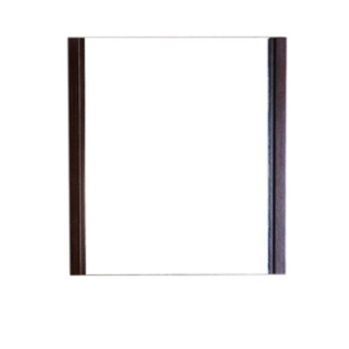 Bellaterra Home 23.5-in x 25.5-in Wenge Square Framed Bathroom Mirror