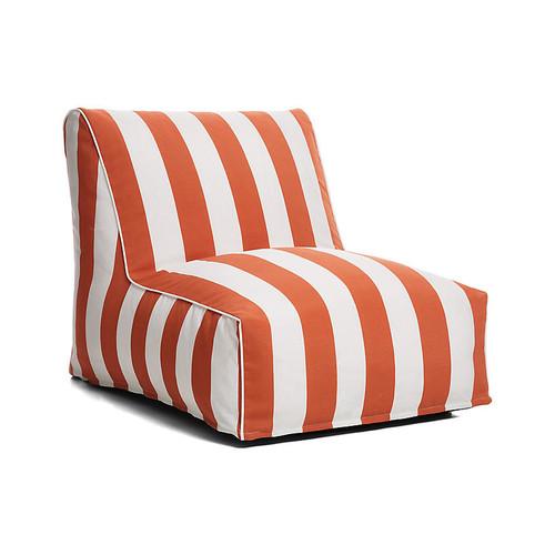 Cabana Stripe Outdoor Lounger, Orange/White
