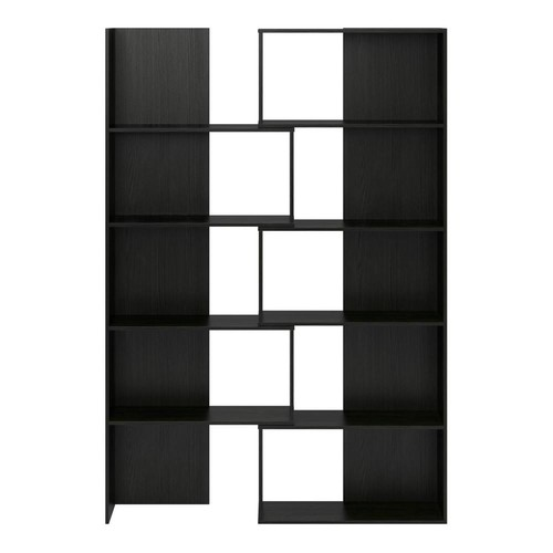 Ameriwood Home Fulcrum Midnight Onyx Expandable Open Bookcase