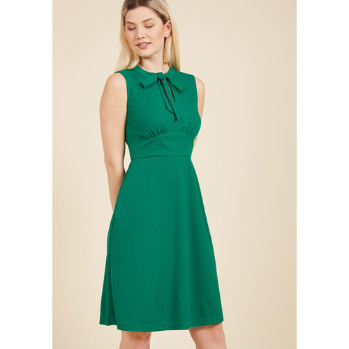 Archival Arrival A-Line Dress in Wine