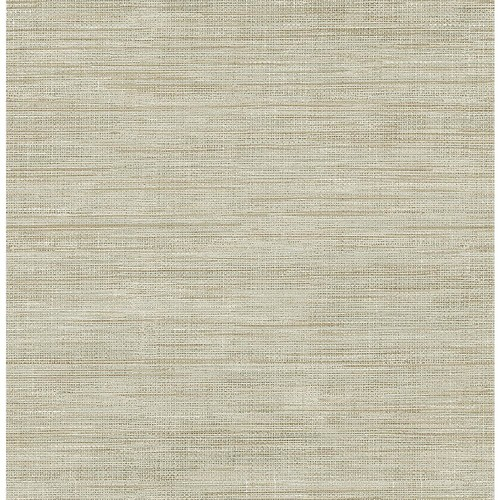 Brewster Woven Beige Faux Grasscloth Wallpaper Sample