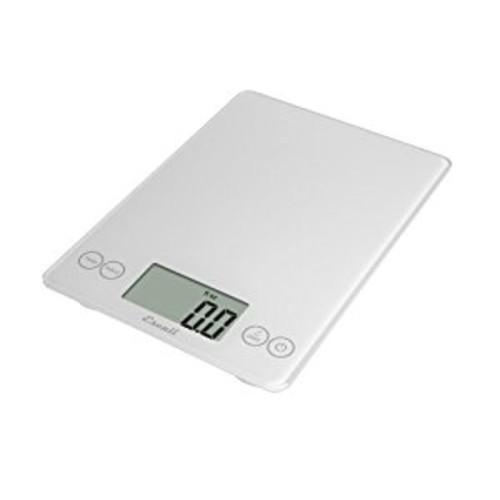 Escali 157W Arti Glass Digital Kitchen Scale 15Lb/7Kg, Crisp White [Crisp White]