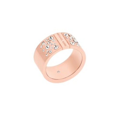 Modern Brilliance Cubic Zirconia Rose Goldtone Ring