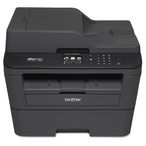 Brother - MFC-L2720DW Wireless Black-and-White All-In-One Printer - Black