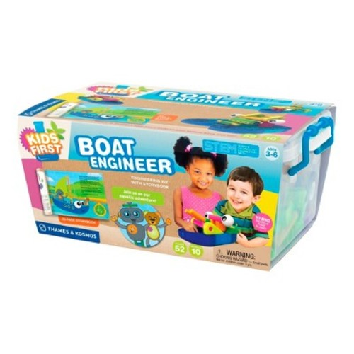 Thames & Kosmos Kids First Boat Engineer Kit with Storybook - 52 Piece