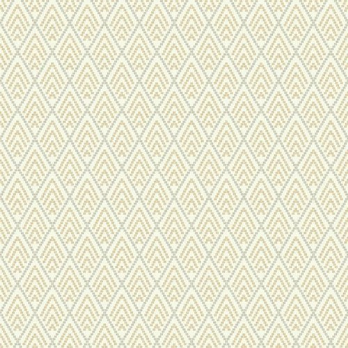 Sample Chalet Wallpaper in Gold and Ivory design by York Wallcoverings