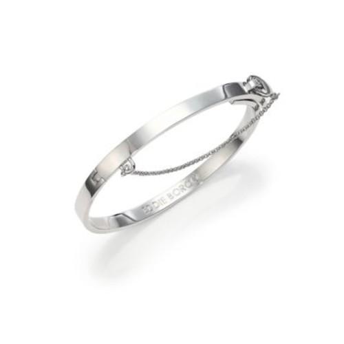 Thin Safety Chain Bracelet/Silvertone