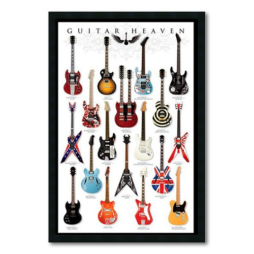 Guitar Heaven Gel-textured Art Print