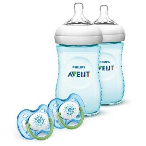 Philips Avent Natural Baby Bottle Teal Gift Set, BPA-Free
