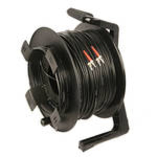 DuraTAC Armored SM Tactical Fiber Cable & Reel with 4 ST Connectors (250')