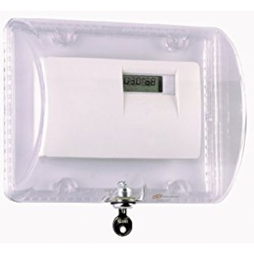 Safety Technology International, Inc. STI-9110 Thermostat Protector with Key Lock - Clear Polycarbonate Enclosure