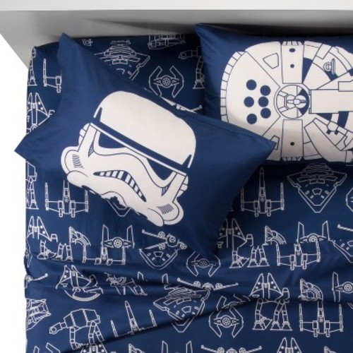 Star Wars Blue & White Sheet Set