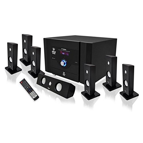 Pyle PT798SBA 7.1 Channel Home Theater System with Satellite Speakers, Center Channel, Subwoofer and Bluetooth