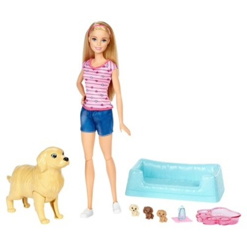 Barbie Newborn Pups and Doll Playset