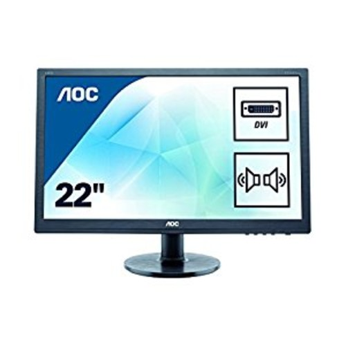 AOC e2260Swda Professional 21.5'' LED-Backlit LCD Monitor, Black