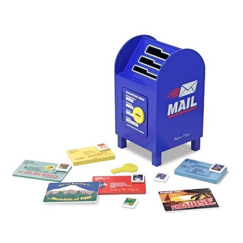 Melissa & Doug Stamp and Sort Wooden Mailbox Activity and Toy [Standard Version]