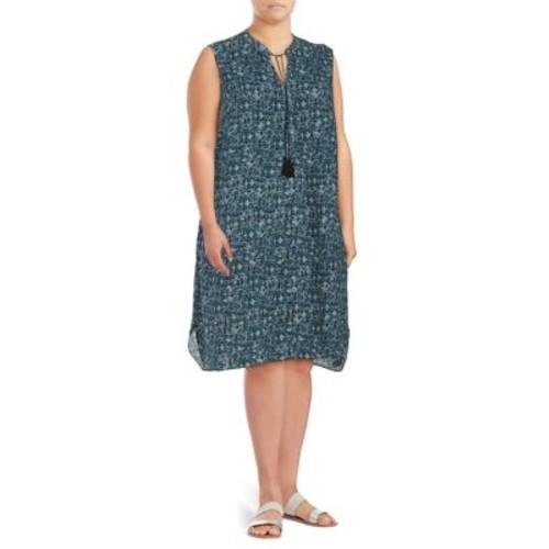 Plus Seaglass Tassel Tunic Dress