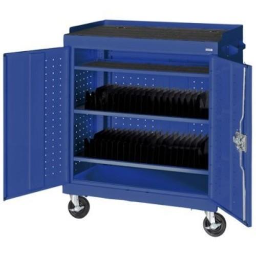 40-Compartment Laptop Storage Cart Color: Blue