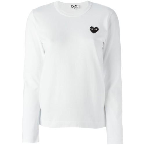 COMME DES GARÇONS PLAY Embroidered Heart Longsleeved T-Shirt