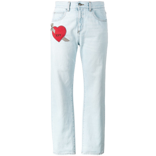 GUCCI Embroidered Heart Jeans