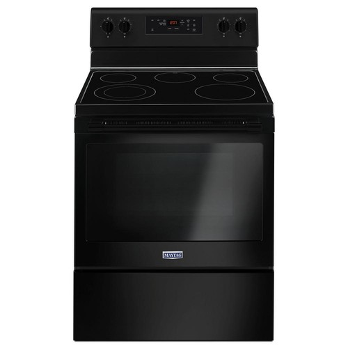 Maytag 30 in. 5.3 cu. ft. Wide Electric Range Shatter-Resistant Cooktop in Black