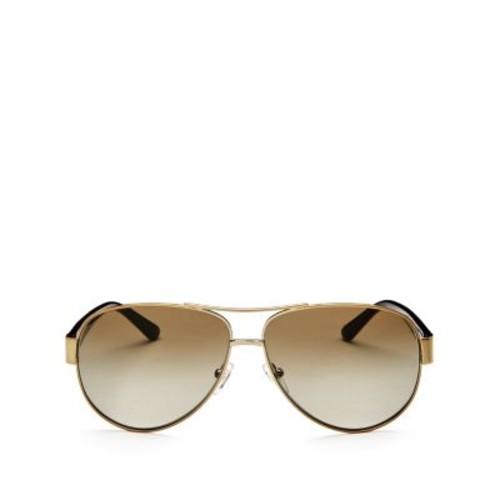 TORY BURCH Aviator Sunglasses, 60Mm
