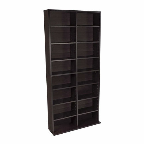 Atlantic 38435719 Oskar Media Cabinet for 464 CD or 228 DVD, Espresso [Espresso, 1]