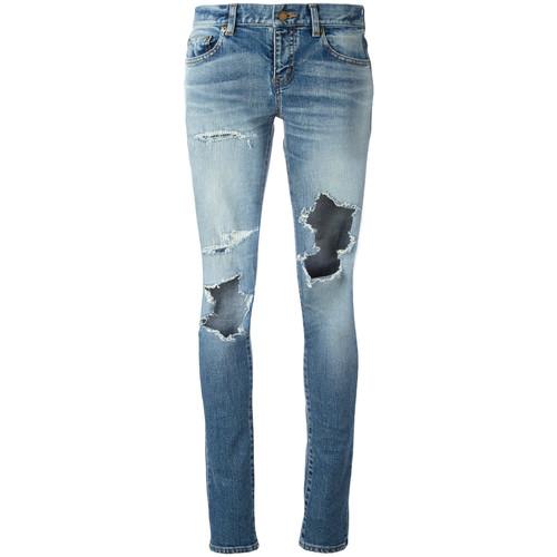 SAINT LAURENT Stretch Denim Skinny Jeans
