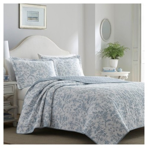 Blue Amberley Quilt Set - Laura Ashley
