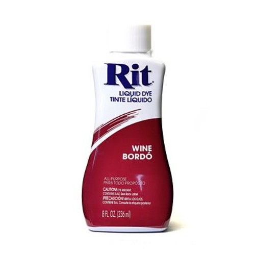 Rit Dyes Wine Liquid 8 Oz. Bottle [Pack Of 4] (4PK-8109)