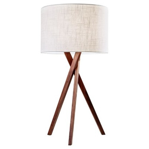 Adesso Brooklyn 25 in. Walnut Table Lamp