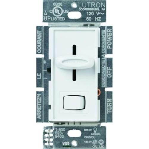 Lutron Skylark 150-Watt Single-Pole/3-Way Preset CFL-LED Dimmer - White
