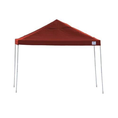 ShelterLogic 22539 12x12 ST Pop-up Canopy, Red Cover, Black Roller Bag