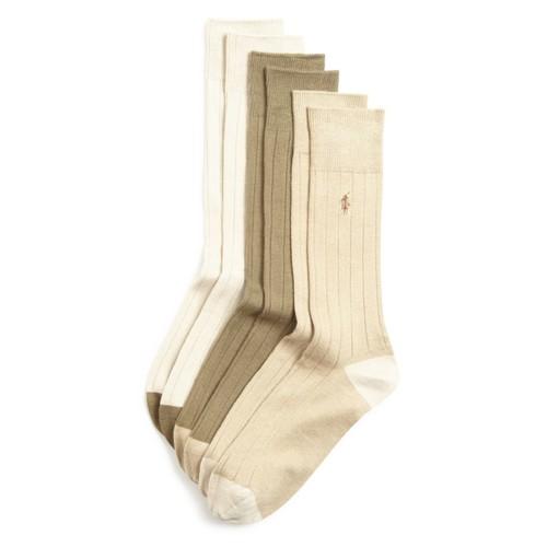 Ribbed Dress Socks, Pack of 3