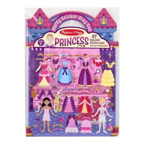 Melissa & Doug Puffy Sticker Set: Princess - 67 Reusable Stickers: Melissa & Doug: Toys & Games