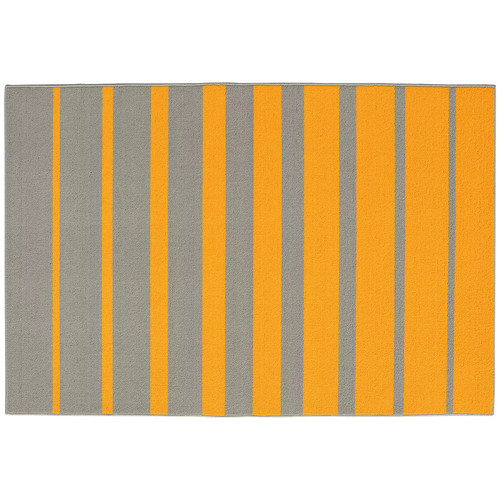 Garland Rug Stair Steps Yellow Gold/Silver 5 ft. x 7 ft. 5 in. Area Rug