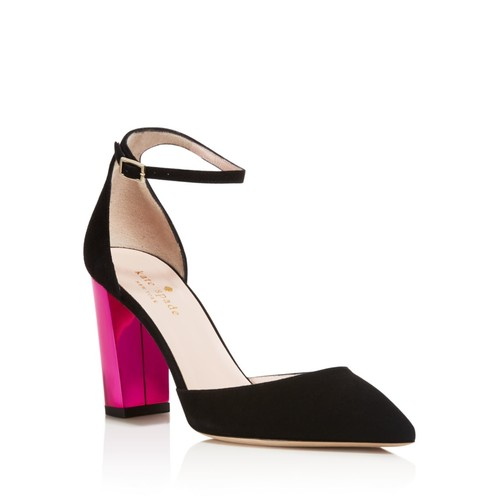 KATE SPADE NEW YORK Pax Color Block Heel Ankle Strap Pumps